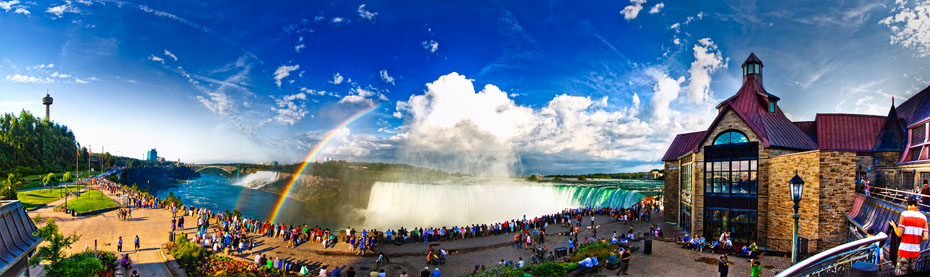 Niagara Falls is a popular tourist attraction all year round.
