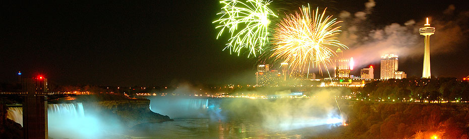 The Falls are illuminated every night all year round